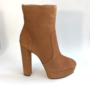 SCHUTZ July Suede Nubuck Leather Platform Boots
